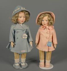 The Chad Valley toy company offered dolls of Princesses Elizabeth and Margaret Rose made of felt around 1938. Courtesy of The Strong, Rochester, New York.