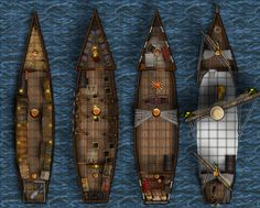 Ship Map With Ballista: And the same ship, with a Grid....