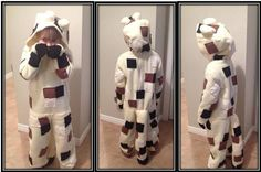 Minecraft Ocelot Costume  Not easy to find on the web of what to do, if interested just send me a message - just made this one for Halloween. auli_artworx@icloud.com