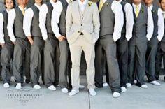 i like the idea of having the groom a lighter shade