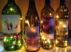 Repurpose a special wine bottle in a creative and decorative way.