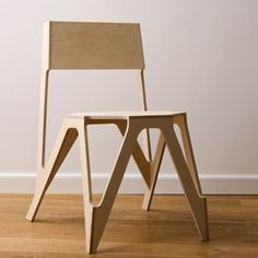Called Bone Chair, the design was developed by creating a boxy approximation of a seat and selectively removing material from each plane.