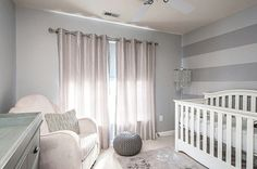 Love a bit of simple Glam in this nursery room