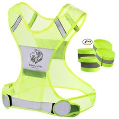 Amazon.com : Reflective Running Vest X High Visibility Comfort for Men & Women. Keeps On or Off Road Runners Seen & Safe. 4 FREE Reflective Arm/Leg Bands. Run Walk or Cycle with the Minimalist Lightweight X. : Sports & Outdoors