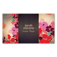 Colorful Floral Interior Designer Wood and Gold Business Card. This is a fully customizable business card and available on several paper types for your needs. You can upload your own image or use the image as is. Just click this template to get started!