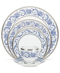 Noritake Dinnerware, Sonnet in Blue Collection - Fine China - Dining & Entertaining - Macy's