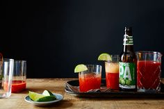 Check out this recipe from Goose Island Beer Co. - combines my two favorite non-wine flavors, Bloody Mary's and IPA! Beer Company, Brewing Company, Beer Recipes, Drink Recipes, Recipies, Vietnamese Grilled Pork, Wine Flavors, Candied Bacon, Beverages