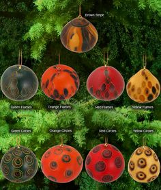 Fair Trade Gourd Christmas ornaments