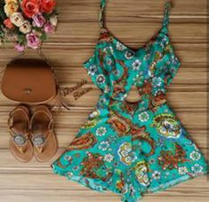 Cool Outfits, Fashion Outfits, Womens Fashion, Modelos Fashion, Boho Beautiful, Outfit Of The Day, Boho Chic, Spring Fashion, Rompers