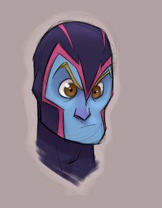 Les X-Men version cartoon de Randy Bishop - Archangel