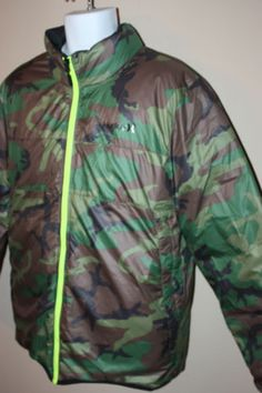 Hurley-Mens-Black-Camo-Reversible-Coat-550-Fill-Down-Puffer-Jacket-Size-Large