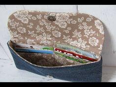 Pénztárca Varrás lépésről lépésre - Wallet sewing - YouTube