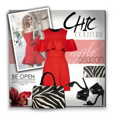 """""""Chic Couture - Ruffle Season"""" by colormegirly ❤ liked on Polyvore featuring ruffles, handbags and polyvoreset"""