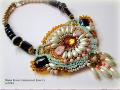 #embroidery #necklace from my #ss2013 collection #handmade