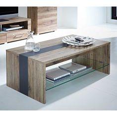 Wohnzimmer Couchtisch In Eiche San Remo Schiefer Grau Glasablage Jetzt Bestellen Unter
