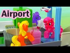 MLP Airport Security Check My Little Pony Travel Part 2 Rarity Pinkie Pie Apple Bloom - YouTube