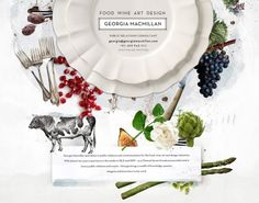 Food Web Design, Wine Art, Graphic Design Illustration, Wine Recipes, Layout Design, Branding, Frame, Projects, Collage