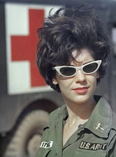 "Army nurse 2nd Lieutenant Roberta ""Bertie"" Steele in South Vietnam, on February 9, 1966."
