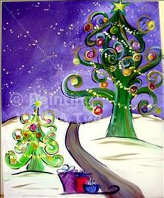 The Funky Christmas Tree - Painting with a Twist