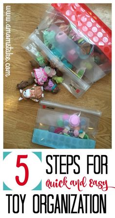 Toys can quickly become overwhelming, use these 5 easy steps to keep everything organized and easy to put away. #ad