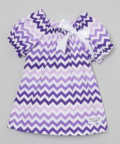 Loving this Baby and Me Designs Purple Chevron Peasant Top - Infant, Toddler & Girls on #zulily! #zulilyfinds