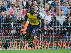 Danny Welbeck celebrating his first Arsenal goal!
