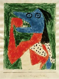 Paul Klee - hungriges Maedchen, 1939, 671.