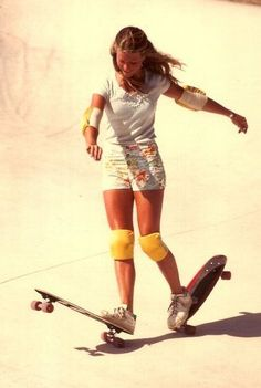 Ellen Oneal - girl, skateboard, vintage photo.., anything else that is cool... oh yes, water wings.