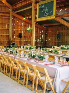 barn wedding reception - photo by Danielle Poff http://ruffledblog.com/arroyo-grande-barn-wedding