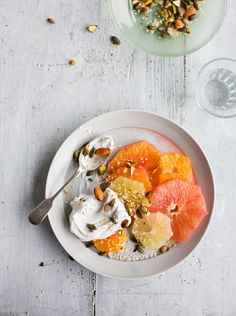 Mixed citrus salad with coconut yoghurt (Laura Edwards)