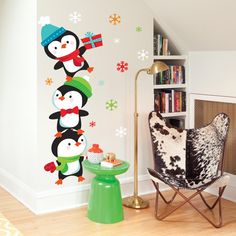 Christmas Wall Decals Removable.34 Best Easy Holiday Decorating With Wall Decals Images