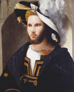 Portrait of a man, c.1515-17 (oil on panel)