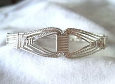 Silver Filled Wire Wrapped Handmade Bracelet 6 to 7 inch