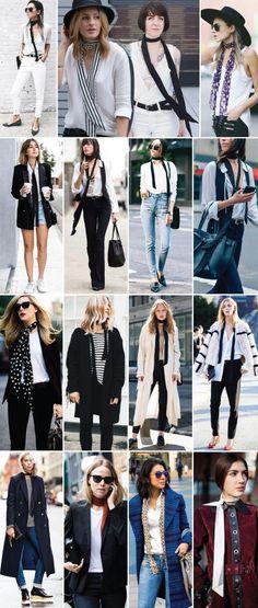 Totally digging the skinny scarf trend. Street Style Inspiration, Mode Inspiration, Best Street Style, Skinny Scarves, Parisian Style, Scarf Styles, Women's Fashion Dresses, Ideias Fashion, Winter Fashion