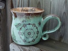 Handmade Personalized Mug with Crop Circles  by CropCircleClay, $46.00