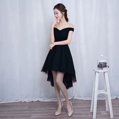 Cute high low tulle short prom dress,homecoming dress - Thumbnail 1