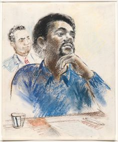 Courtroom sketches are a common infographic. When many courts don't allow cameras in the courtroom, it is up to the sketch artist to let the public know what it looked like inside the courtroom.