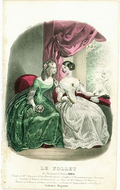 """Le Follet"" fashion print from the late 1840s"