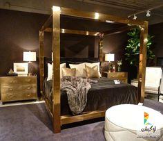 غرف نوم مودرن باللون الذهبى 2015