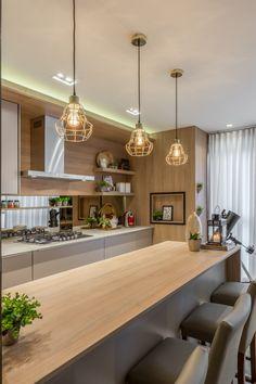 Kitchen Room Design, Modern Kitchen Design, Home Decor Kitchen, Interior Design Kitchen, Home Kitchens, Small Apartment Interior, Home Building Design, Farmhouse Style Kitchen, Cuisines Design