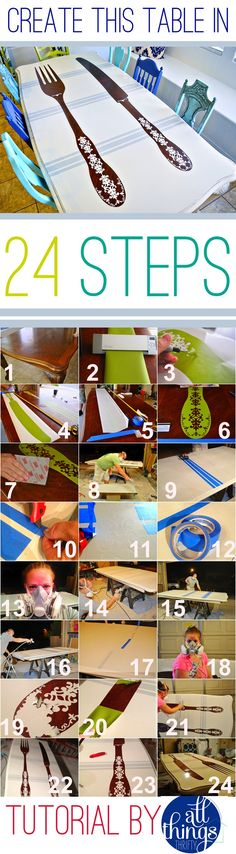How-to-paint-your-kitchen-table pap de uma mesa