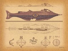 Jules Verne Nautilus Submarine Plans Jules Verne, Science Fiction, Nautilus Submarine, Disneysea Tokyo, Steampunk, Nemo, Sci Fi Ships, Leagues Under The Sea, Submarines