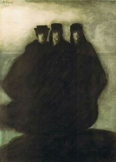 Léon Spilliaert,Les trois figures.