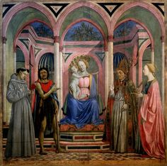 Domenico Veneziano-St. Lucy Altarpiece  (1445-1447)  Tempera on Panel