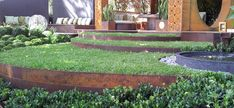 Corten steel edges for the garden and lawn