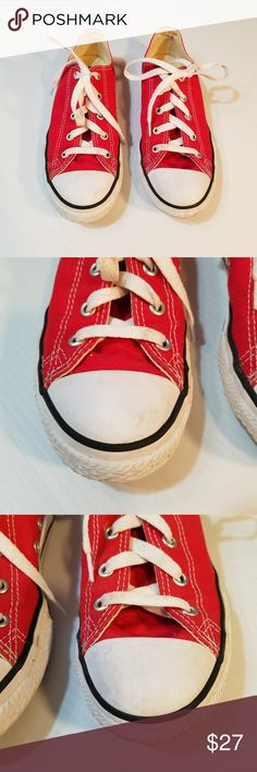 2a871513917bb1 Converse All Stars Youth Size 3 Red Converse All Stars Low tops Size 3 Red  See pics for details Converse Shoes Sneakers