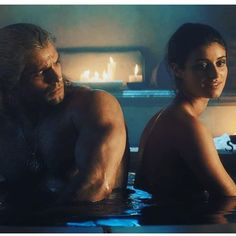 The Witcher / Geralt and Yennefer Bathtub Scene (Anya Chalotra and Henry Cavill Shirtless) The Witcher Series, The Witcher Game, The Witcher Geralt, Series Movies, Tv Series, Live Action, The Witchers, Yennefer Cosplay, Witcher Wallpaper