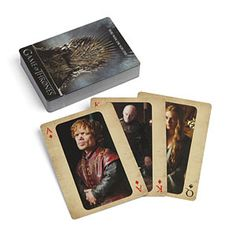 Game of Thrones Deck of Playing Cards Yep! This would be the perfect way to end the dark christmas night playing a game of these cards with my special one Game Of Thrones Cards, Game Of Thrones Winter, Geek Toys, Dark Christmas, Christmas Night, Christmas 2015, Cute Stockings, Getting Played, Beach Gear