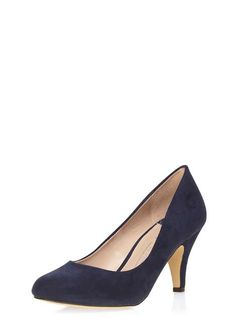 c628048c245d Wide Fit Navy  Wilamina  Mid Court Shoes - Dorothy Perkins Wide Fit Shoes