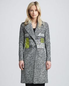 shopstyle.com: Diane von Furstenberg Nala Colorblock Tweed Coat